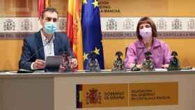 Francisco Tierraseca y Consuelo García este jueves en la Delegación del Gobierno en Castilla-La Mancha