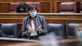 Isabel Celaá, ministra de Educación y Formación Profesional, en el Congreso de los Diputados.
