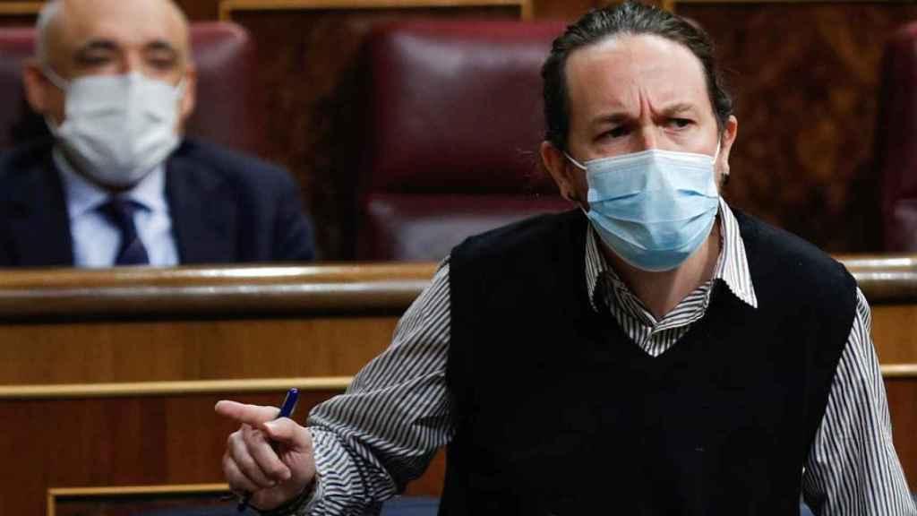 Pablo Iglesias, durante una intervención en el Congreso de los Diputados.