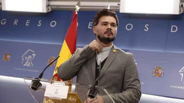 Gabriel Rufián, portavoz de ERC en el Congreso de los Diputados.
