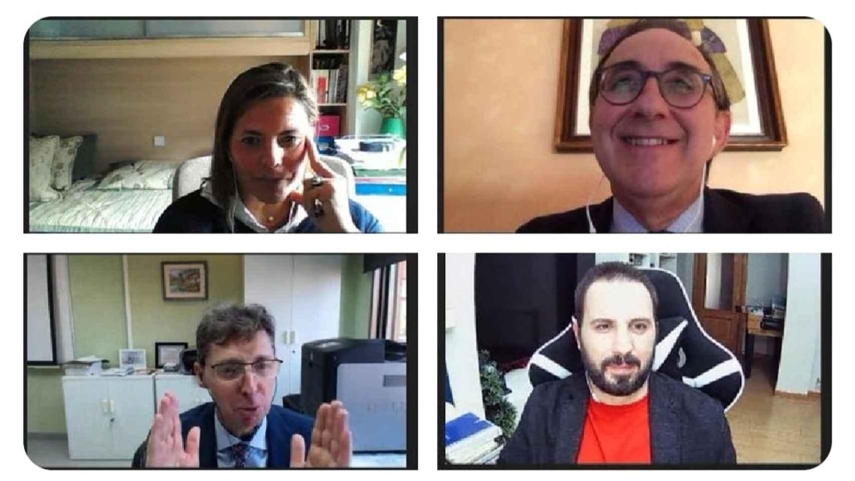 Rosa Elvira Lillo, Jesús Carretero, Arturo Azcorra, investigadores de la UC3M, y Alberto Iglesias, moderador