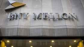 Rótulo de BNY Mellon en una de sus sedes.