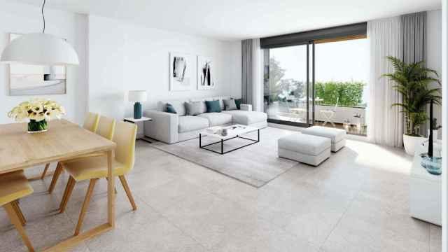 Imagen del interior de las viviendas que proyecta Domo en Méndez Álvaro.