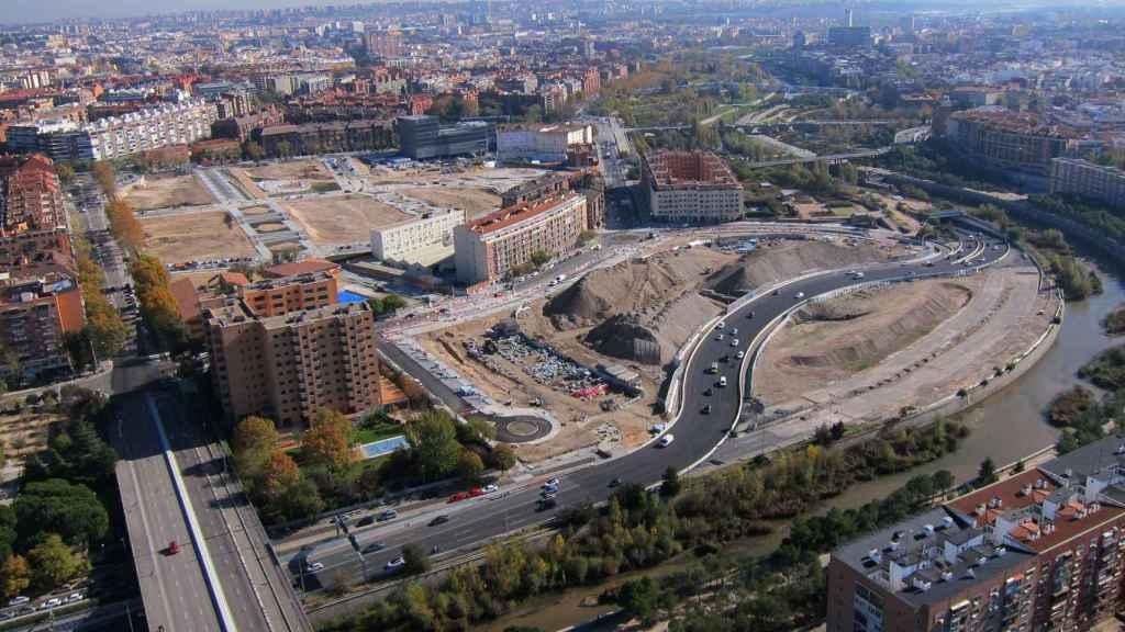 Imagen aérea del entorno Ribera del Calderón en Madrid.