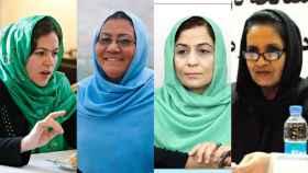Las cuatro mujeres que participan en el proceso de Paz de Afganistán.