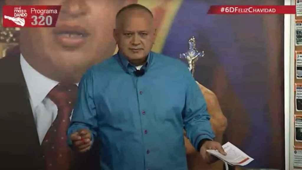 Diosdado Cabello en su programa semanal de televisión.