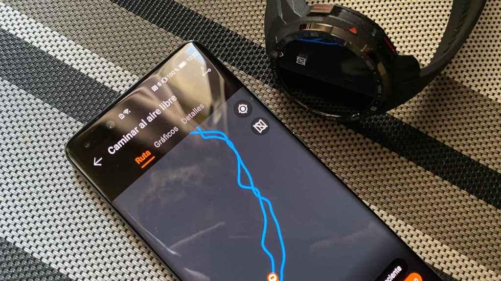 El GPS integrado del Honor Watch GS Pro permite registrar nuestro camino