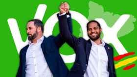 Santiago Abascal e Ignacio Garriga, presidente de Vox y diputado y candidato por Barcelona, respectivamente / CG