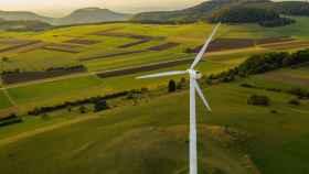 Un parque eólico en una imagen de archivo.