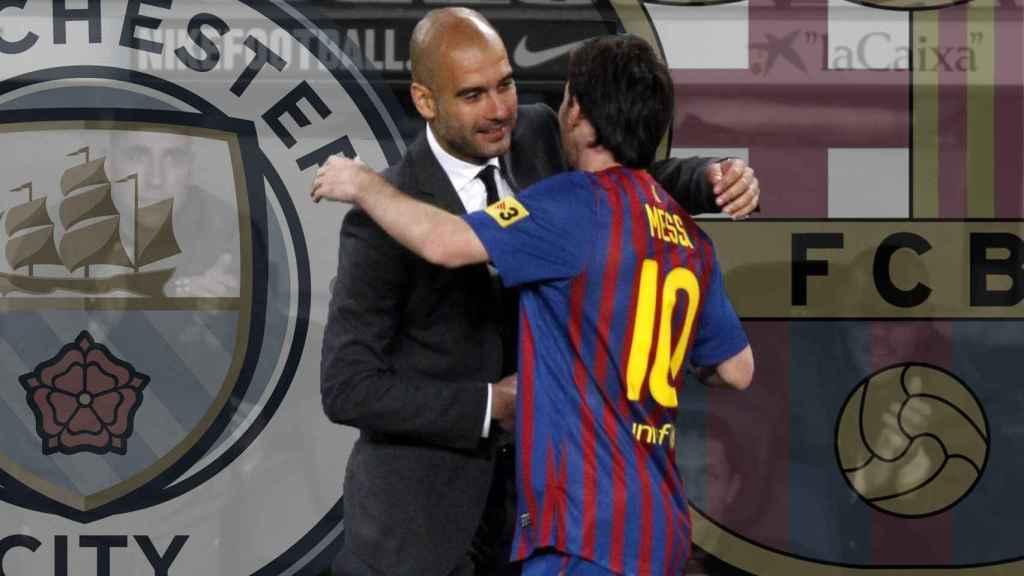Pep Guardiola y Leo Messi