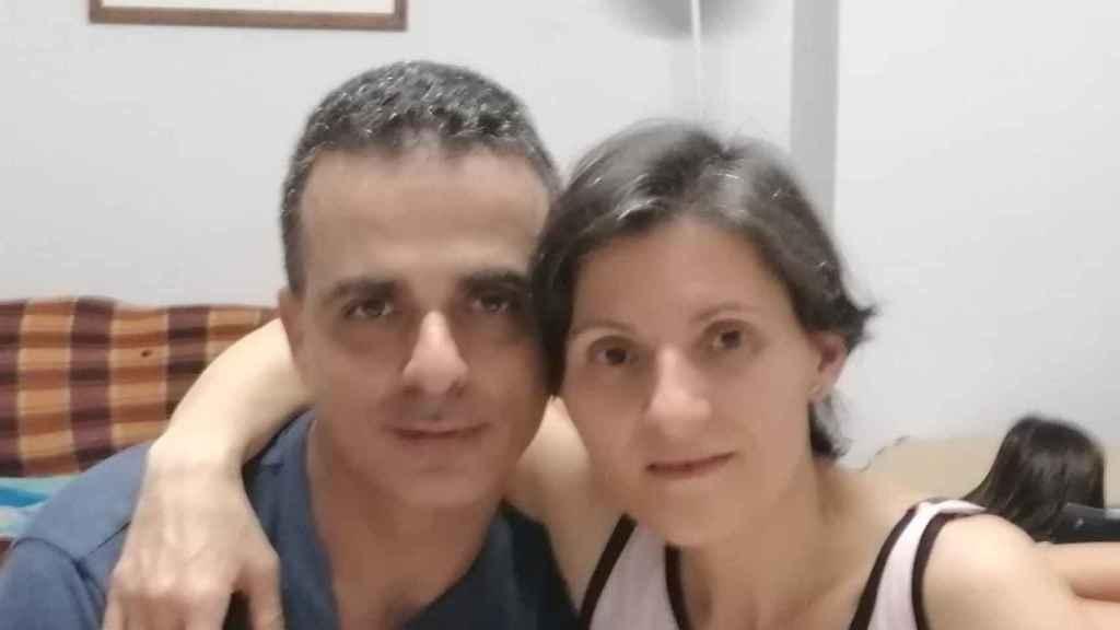 Maite y su marido.