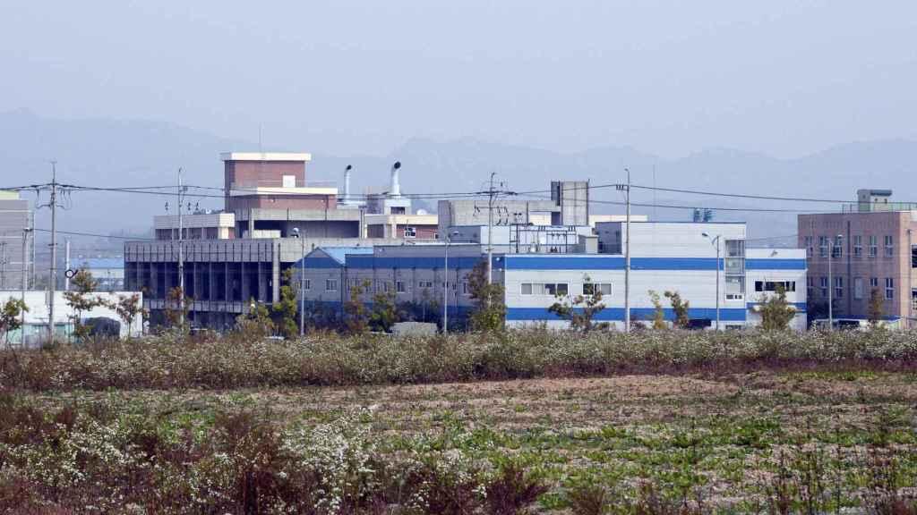 Una fábrica industrial en Kaesong.