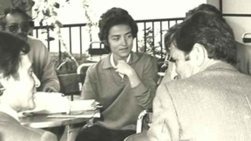 Ana Oramas en un descanso de la campaña municipal de 1979, entonces en las filas de UCD.