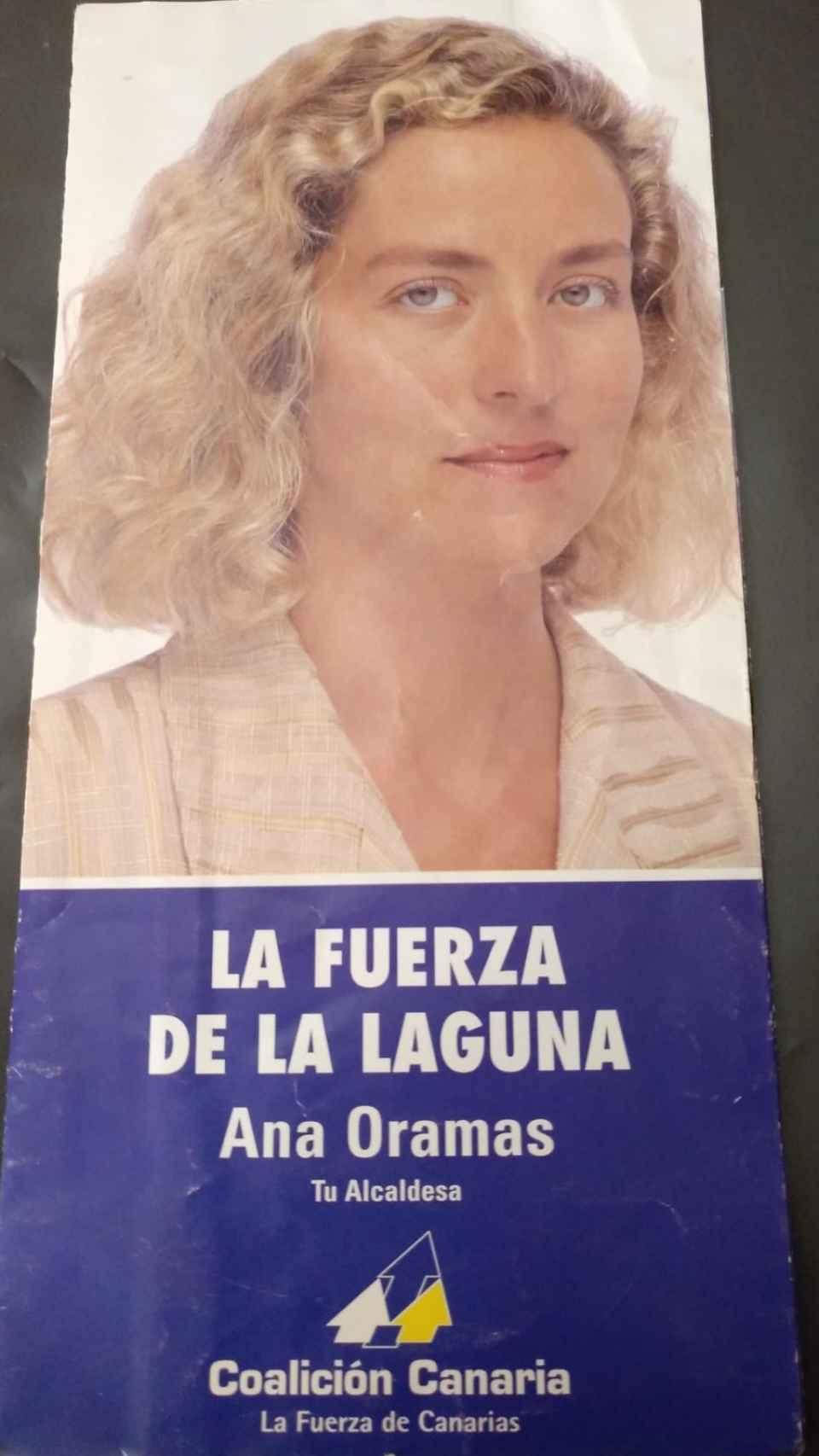 Cartel de la candidatura de Ana Oramas a la alcaldía de La Laguna.