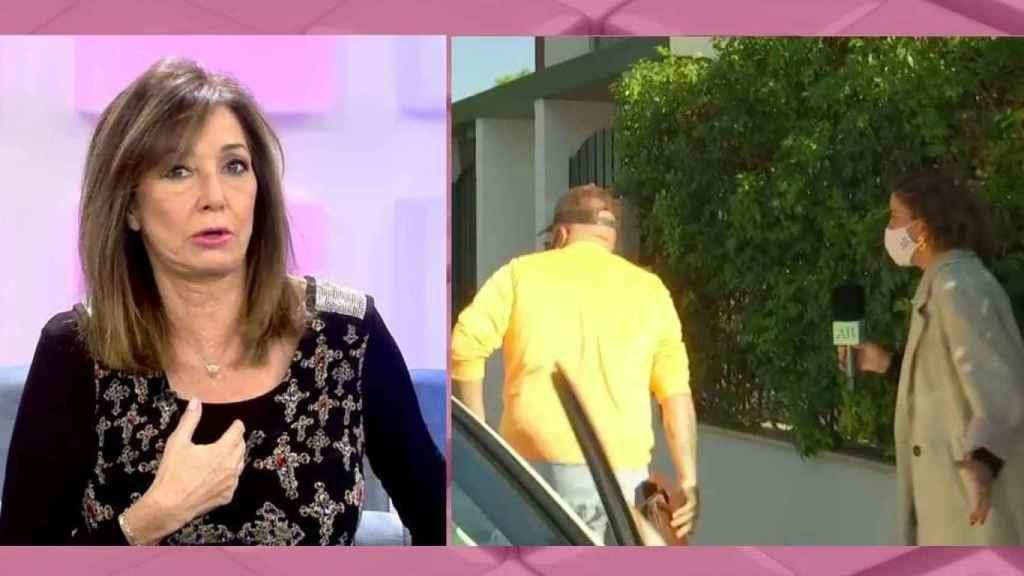 Ana Rosa Quintana durante el visionado de las imágenes en su programa.