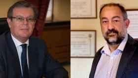 Miguel Ángel Collado (i) y Julián Garde (d), candidatos a rector de la UCLM