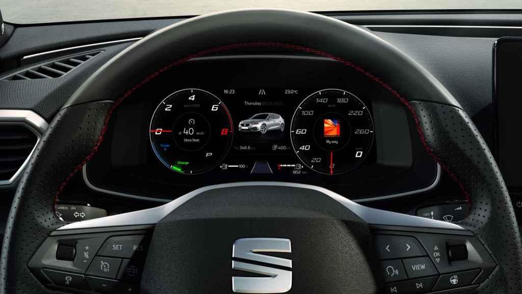 Cuadro de instrumentos del Seat León e-Hybrid.