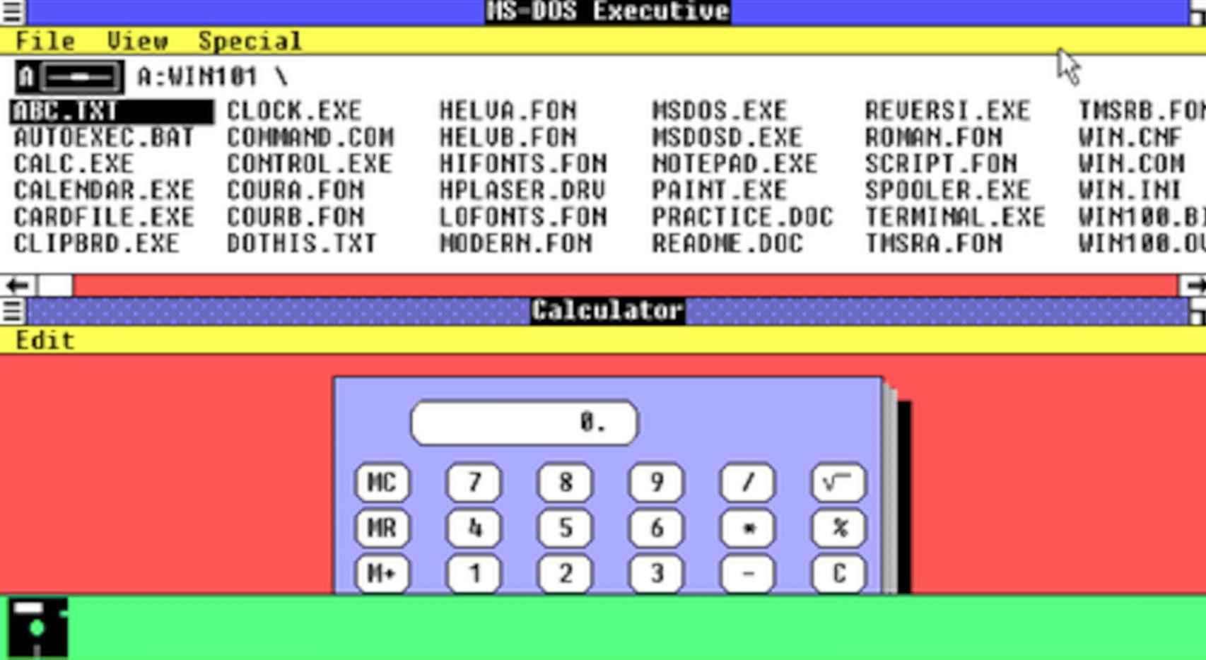 Windows 1.0 destacaba por su interfaz gráfica