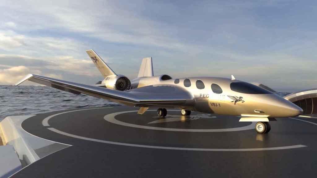 Pegasus VBJ aterrizado en un yate
