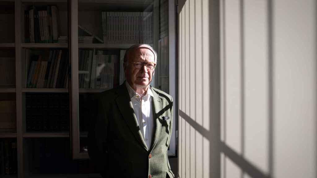 Nicolás Sartorius, antes de la entrevista en la Fundación Alternativas.