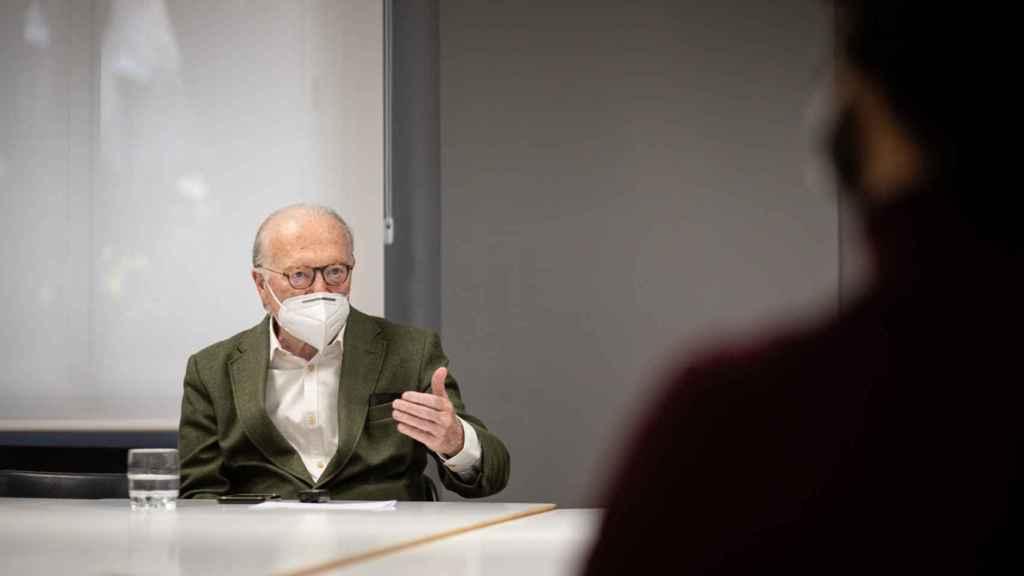 Nicolás Sartorius, durante la entrevista.