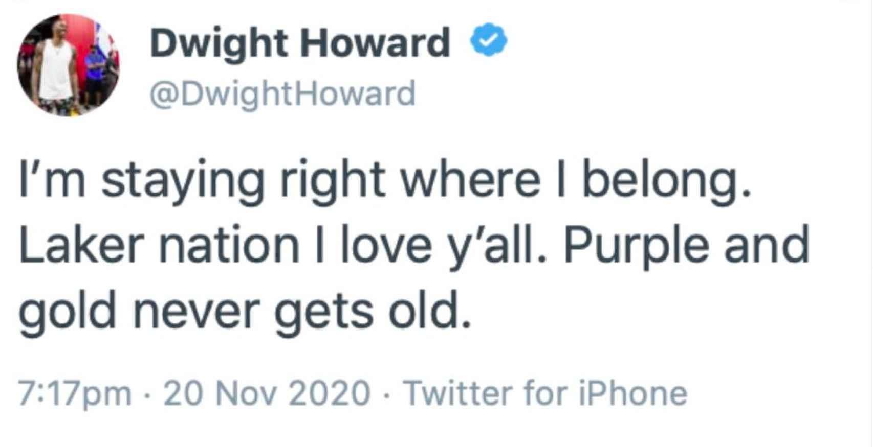 El mensaje de Dwight Howard