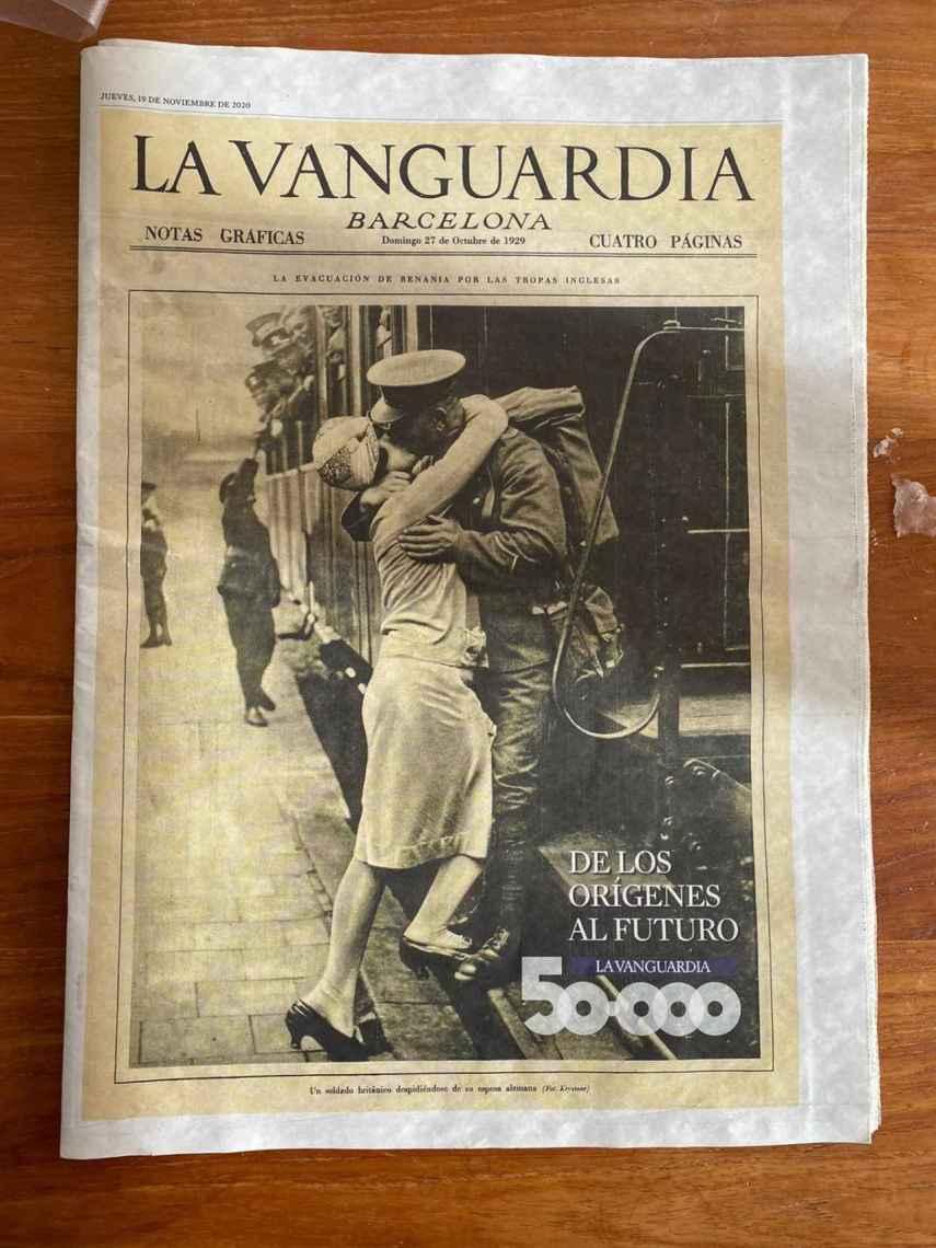 50.000 portadas de 'La Vanguardia' resumidas en una.