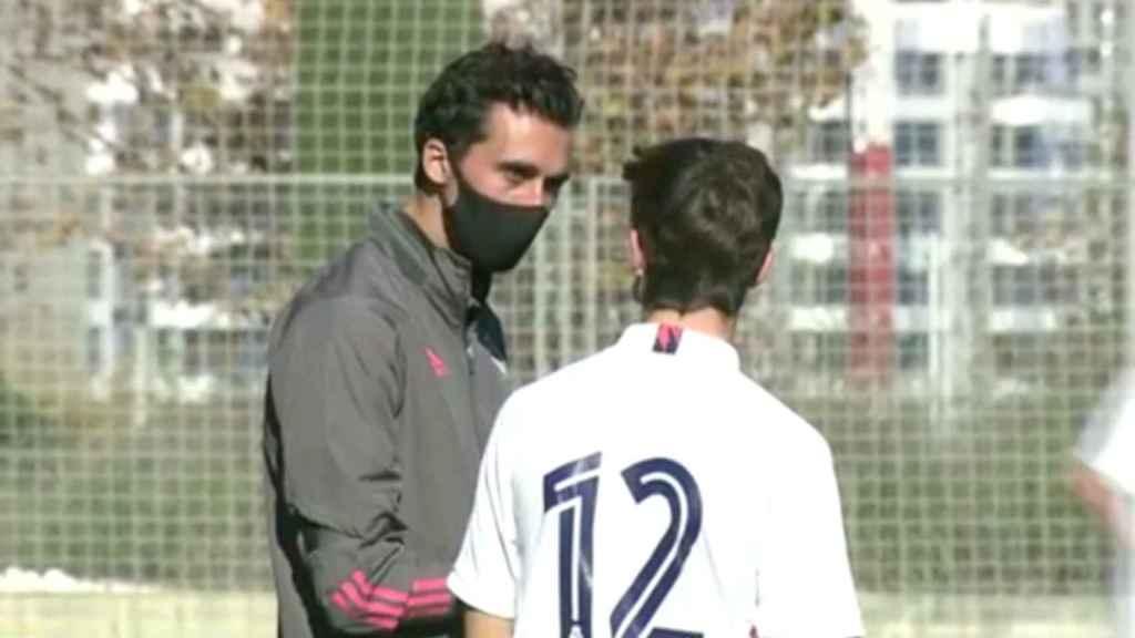 Álvaro Arbeloa, como entrenador en la cantera del Real Madrid