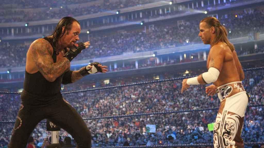 The Undertaker y Shawn Michaels en Wrestlemania