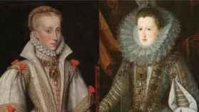 Retratos de las reinas Ana y Margarita de Austria.