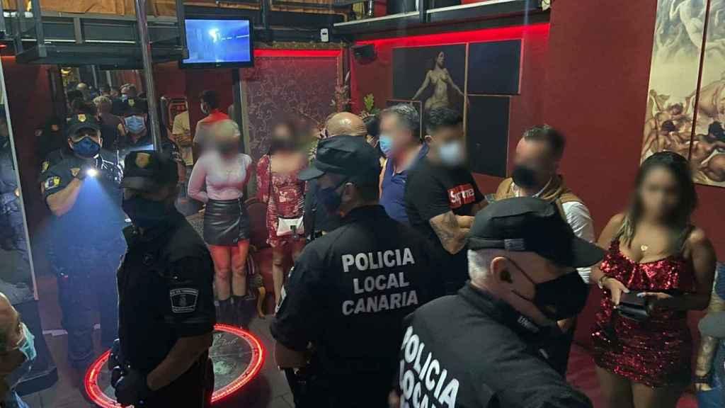 Imagen del club de altene donde estaban los jugadores del CD Tenerife