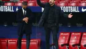 'El Cholo' Simeone, en el Atlético de Madrid - Barcelona de La Liga
