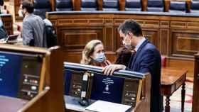 FOTO: Nadia Calviño y Pedro Sánchez (EP).