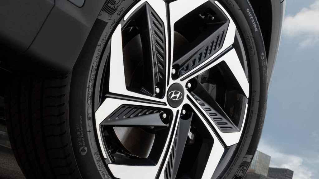 Imagen de la llanta del nuevo Hyundai Tucson.