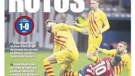 La portada del diario Mundo Deportivo (22/11/2020)