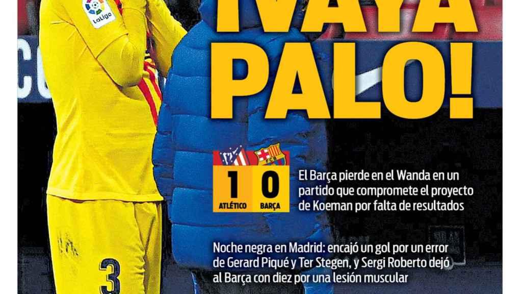 La portada del diario SPORT (22/11/2020)