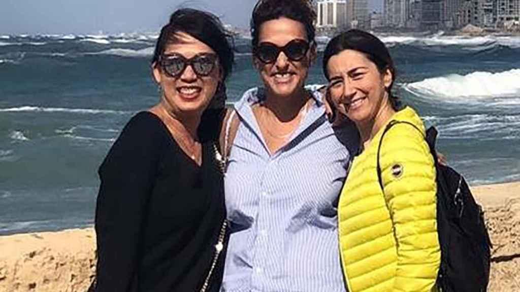 2018 Tel Aviv: Lina Mascaró con Noa, la franquiciada de Israel, y Jacky, de Hong Kong, durante el centenario del Grupo.