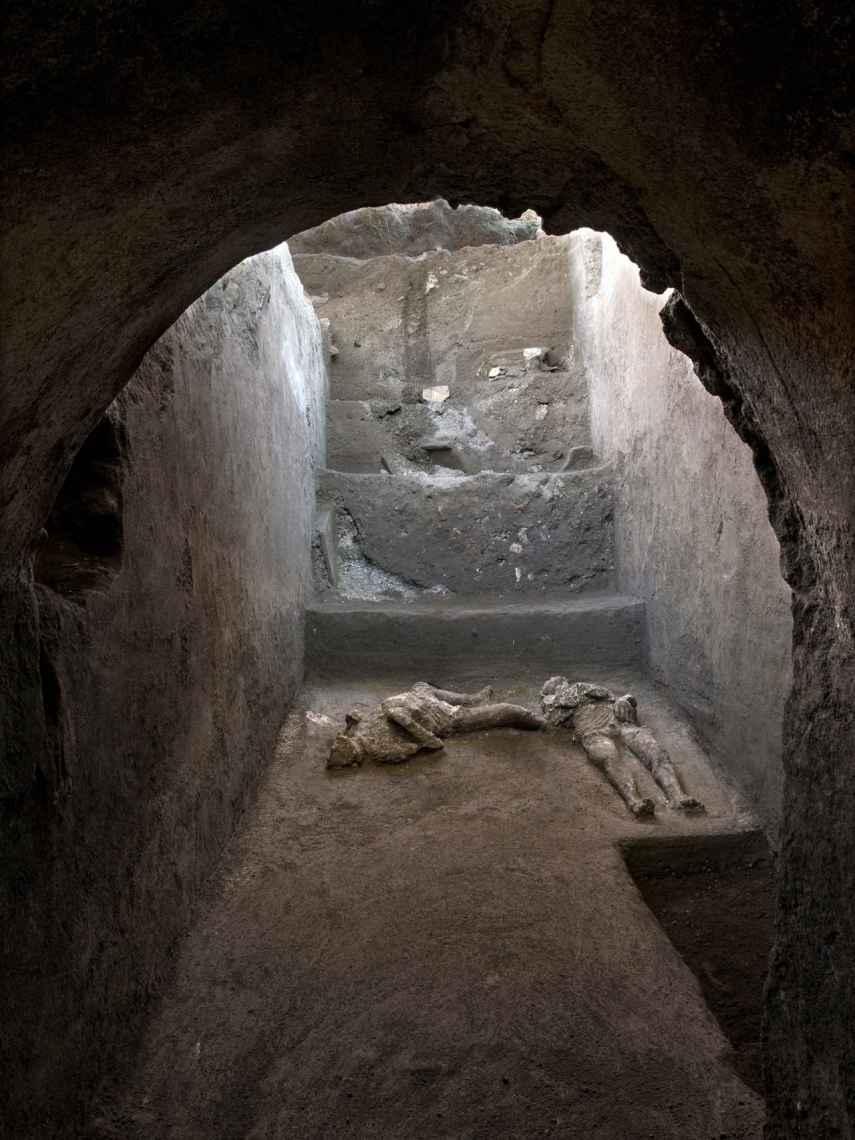 Espacio donde se han hallado a las dos personas calcinadas por el Vesubio.