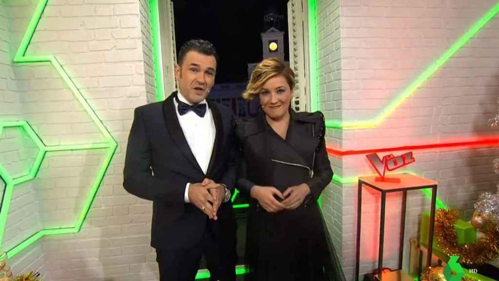 Cristina Pardo e Iñaki López presentando las Campanadas de 2018.