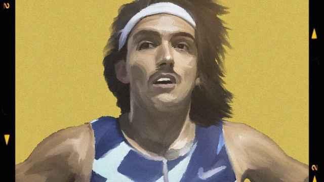 El cartel del 10K de Alcobendas con Fernando Carro. Foto: Twitter (@atletismoRFEA)