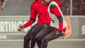 Eduardo Camavinga, durante un entrenamiento del Rennes. Foto: Instagram (e.cama10)