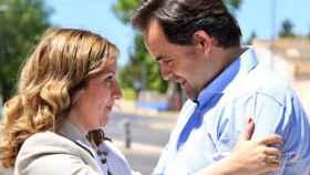 Sonia González, en una imagen de archivo con el presidente del PP de Castilla-La Mancha, Paco Núñez