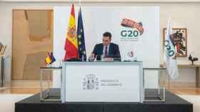 El presidente del Gobierno, Pedro Sánchez, comparece en rueda de prensa tras su participación en la segunda jornada de la Cumbre del G20. Foto. Moncloa