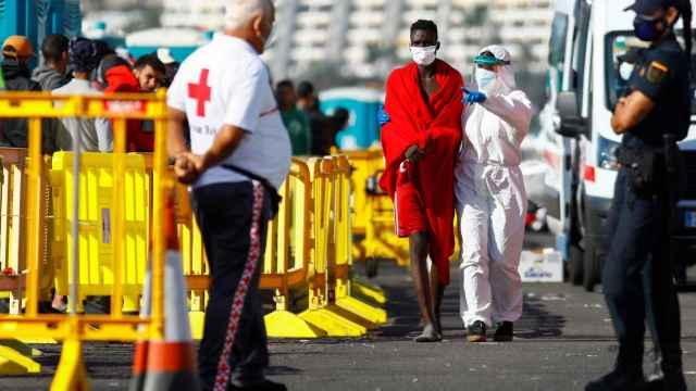 Un inmigrante, a su llegada a Canarias.