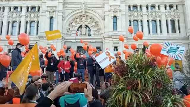 Manifiesto contra la Ley Celaá, en Madrid.