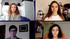Las jóvenes estudiantes Laura Rojo, Alai Blanco, Alicia Ramírez y Alicia Fernandéz (de izquierda a derecha y de arriba a abajo).