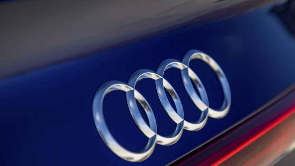 Imagen del emblema de Audi en el nuevo e-tron Sportback.