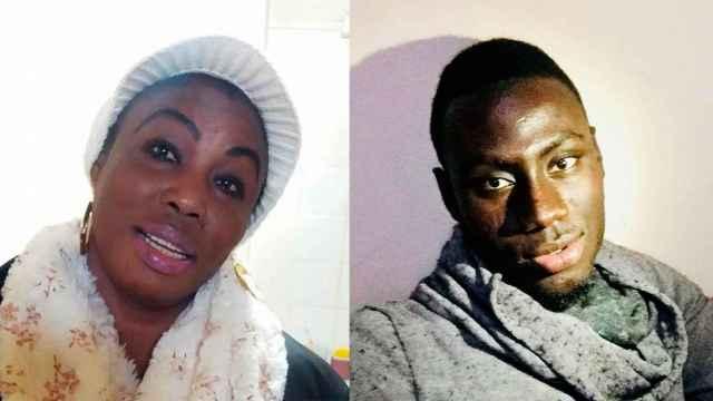 La senegalesa Maimouna Faye y Zale Wade, su hijo.