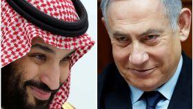 A la izquierda, el príncipe saudí Mohamed Bin Salman. A la derecha, el primer ministro israelí, Benjamin Netanyahu.