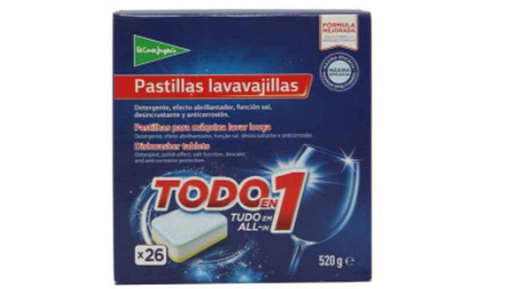 Detergente para lavavajillas de El Corte Inglés.